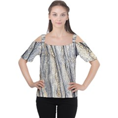 Texture Structure Marble Surface Background Cutout Shoulder Tee