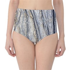Texture Structure Marble Surface Background High Waist Bikini Bottoms