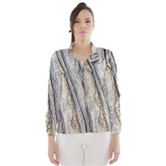 Texture Structure Marble Surface Background Wind Breaker (women)