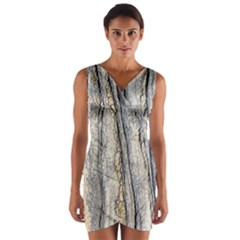 Texture Structure Marble Surface Background Wrap Front Bodycon Dress