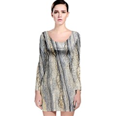 Texture Structure Marble Surface Background Long Sleeve Velvet Bodycon Dress