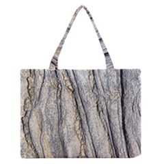 Texture Structure Marble Surface Background Zipper Medium Tote Bag