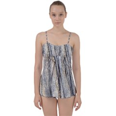 Texture Structure Marble Surface Background Babydoll Tankini Set