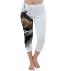 Warrior Panda T Shirt Capri Winter Leggings
