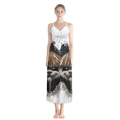 Warrior Panda T Shirt Button Up Chiffon Maxi Dress