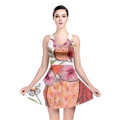 Summer Colourful Owl T Shirt Reversible Skater Dress