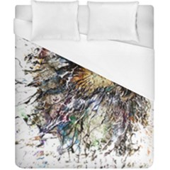 Angry And Colourful Owl T Shirt Duvet Cover (california King Size)