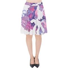 Sweetie Belle Stream Wall  Velvet High Waist Skirt