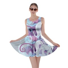 Silver Spoon Stream Wall Skater Dress