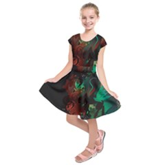 Chrys Stream Wall  Kids  Short Sleeve Dress