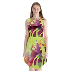King Thorax Stream Wall  Sleeveless Chiffon Dress