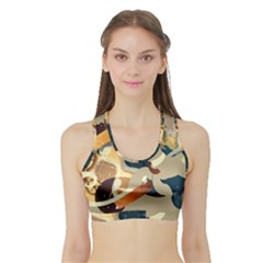 Dr Hooves Stream Wall  Sports Bra With Border