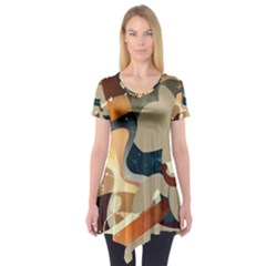 Dr Hooves Stream Wall  Short Sleeve Tunic