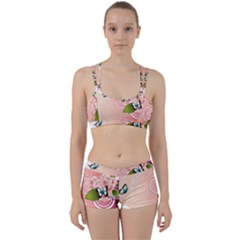 Rose Butterfly Patterns  Women s Sports Set