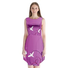 Bird Flight Patterns  Sleeveless Chiffon Dress