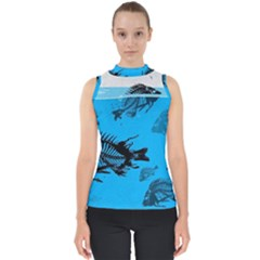 Fish Skeleton Paint  Shell Top