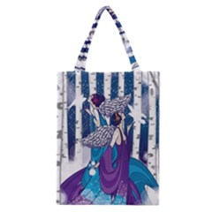 Girl Forest Trees Classic Tote Bag