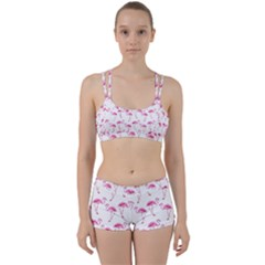 Flamingo Pattern Women s Sports Set