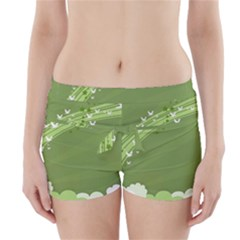 Birds Lines Flight  Boyleg Bikini Wrap Bottoms