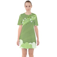 Birds Lines Flight  Mini Dress