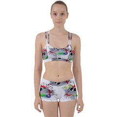 Plate Stains Paint Women s Sports Set