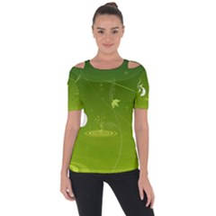 Patterns Green Background  Short Sleeve Top
