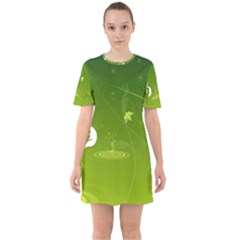 Patterns Green Background  Mini Dress