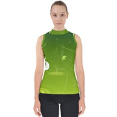 Patterns Green Background  Shell Top