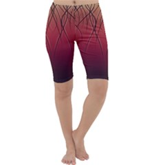 Waves Lines Bands Cropped Leggings