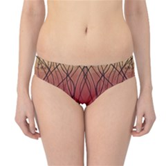 Waves Lines Bands Hipster Bikini Bottoms