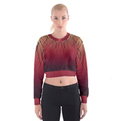 Waves Lines Bands Cropped Sweatshirt