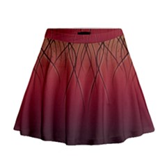Waves Lines Bands Mini Flare Skirt