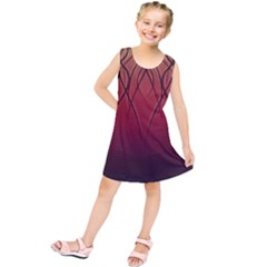 Waves Lines Bands Kids  Tunic Dress