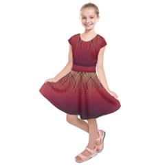 Waves Lines Bands Kids  Short Sleeve Dress