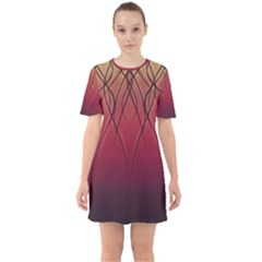 Waves Lines Bands Mini Dress