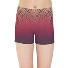 Waves Lines Bands Kids Sports Shorts