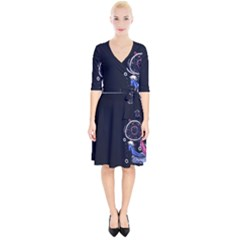 Dreamcatcher Drawing Dream  Wrap Up Cocktail Dress
