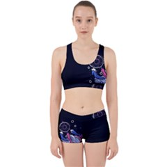 Dreamcatcher Drawing Dream  Work It Out Sports Bra Set