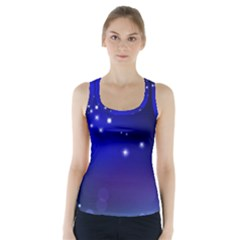 Point Way Glitter Racer Back Sports Top