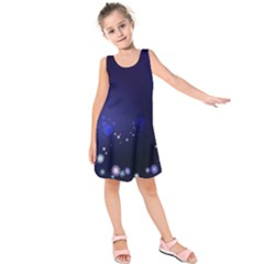 Flowers Stars Dots  Kids  Sleeveless Dress