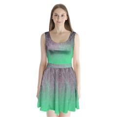 Line Light Surface  Split Back Mini Dress
