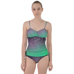 Line Light Surface  Sweetheart Tankini Set