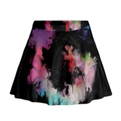 Stains Lines Patterns 3840x2400 Mini Flare Skirt