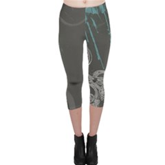 Bird Patterns Backgrounds  Capri Leggings