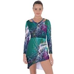 Form Line Asymmetric Cut Out Shift Dress