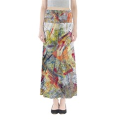 Texture Patterns Strokes  Full Length Maxi Skirt