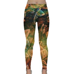 Leaves Plant Multi Colored  Classic Yoga Leggings