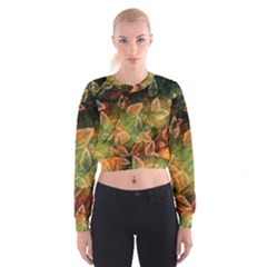Leaves Plant Multi Colored  Cropped Sweatshirt