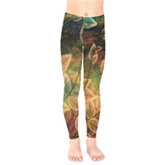 Leaves Plant Multi Colored  Kids  Legging