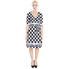 Chess  Wrap Up Cocktail Dress
